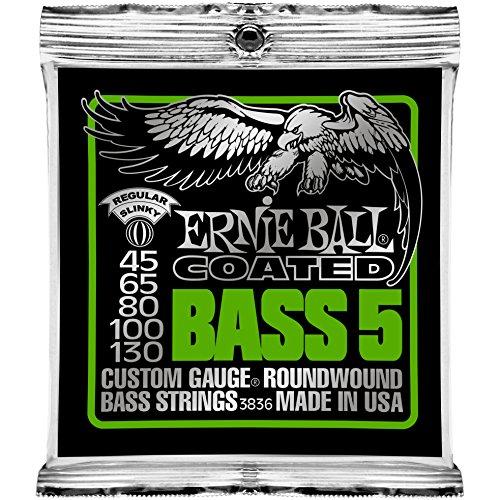 (Ernie Ball Coated Bass 5-string Regular Slinky Set, .045 - 130 )