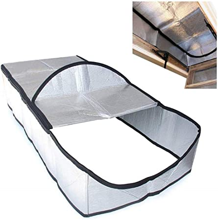 Attic Stairway Cover Attic Stairs Insulation Tent Double Sided Aluminum Foil Door Insulator Kit Stair Ladder Opening Tent With Easy Access Zipper Silver Amazon Co Uk Kitchen Home
