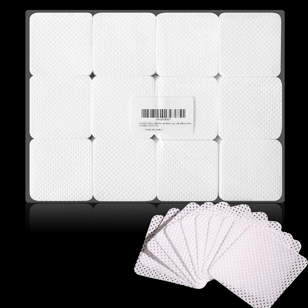 3000Pcs Nail Pliosh Remover Wipes Pure Cotton Lint Free Wipes Removal Gel Polish Nail Cleaner Nail Napkins Absorbable (3000Pcs) by WXS