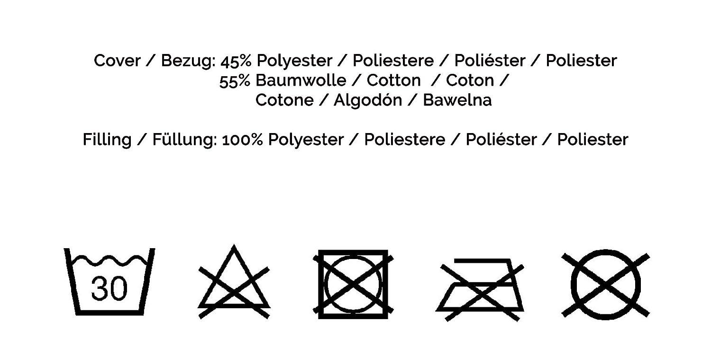 Autres Disponibles 40x40 cm Anthracite ZOLLNER 4 Coussins de Chaise
