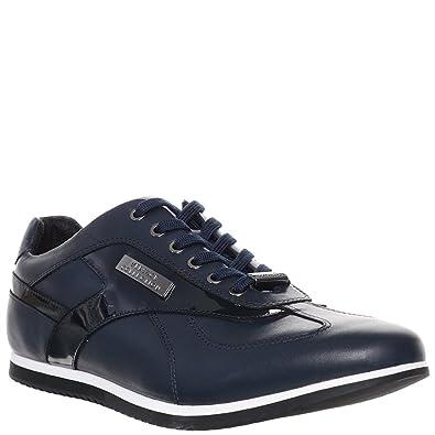 Versace Jeans - Zapatillas de Piel para hombre: Amazon.es: Zapatos y complementos