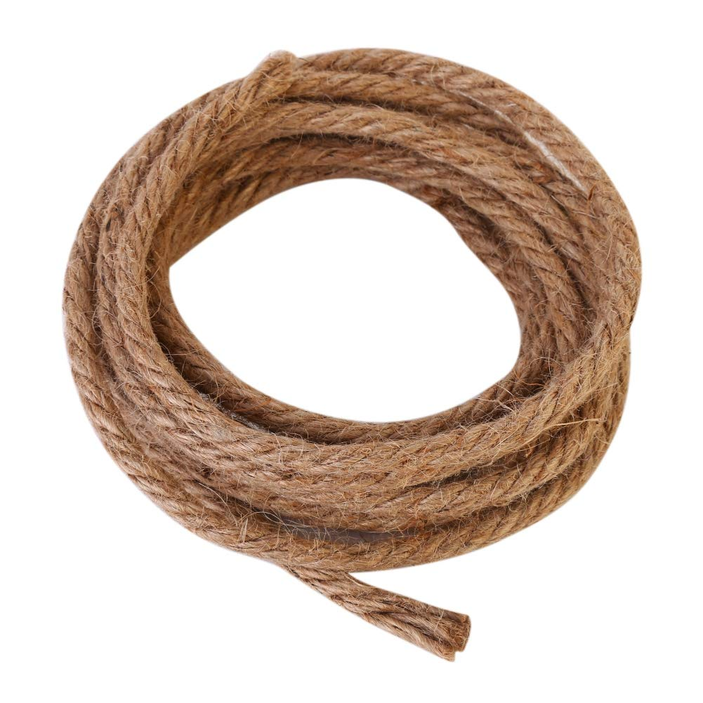 Efinny 3m Diy Cat Climbing Post Tree Scratcher Primary Jute Rope For