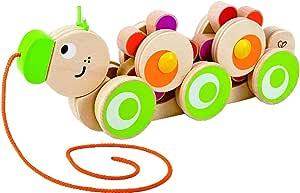 Hape Walk-A-Long Caterpillar Wooden Pull Toy