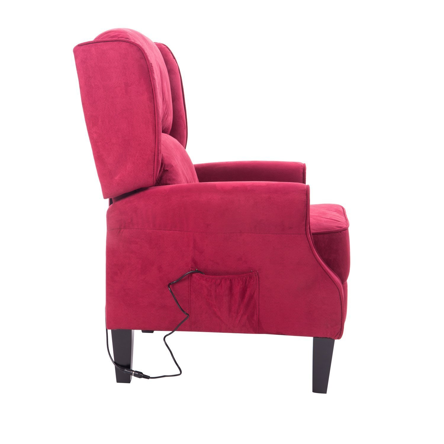 Amazon Hom Heated Vibrating Suede Massage Recliner Chair