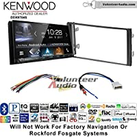 Volunteer Audio Kenwood DDX9704S Double Din Radio Install Kit with Apple Carplay Android Auto Fits 2013 Nissan Frontier, Titan