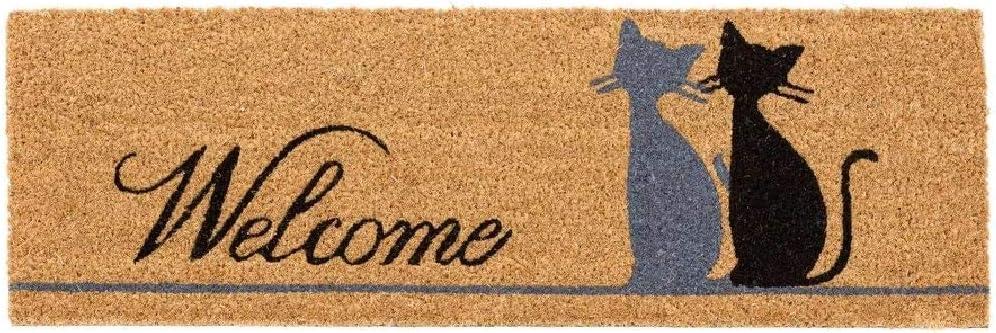 D,casa Felpudo Original Gatos Miau Welcome 75x25 cm