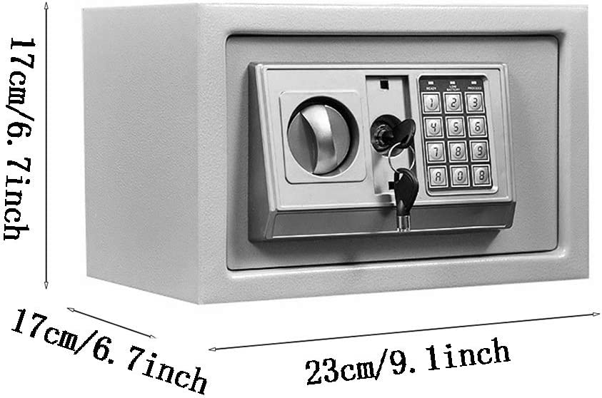 Portable Cabinet Safes with Keypad Lock Solid Steel Great for Home Office Hotel Cash Jewelry Color : Style3 ZCF Security Safes Mini Security Safe 6 Colors