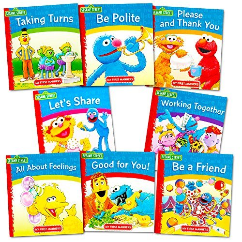 Sesame Street Elmo Manners Books For Kids Toddlers -- Set of 8 Manners Books ()