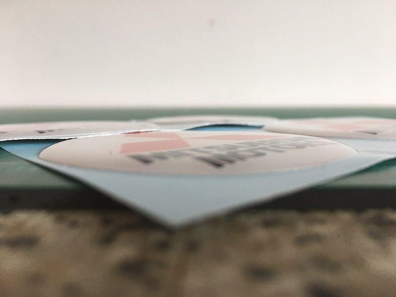 Coprimozzo a Cupola per Cerchi in Lega Mitsubishi Motori Mitsubishi Evolution X4 Shogn LS200 Outlander Pajero SCOOBY DESIGNS