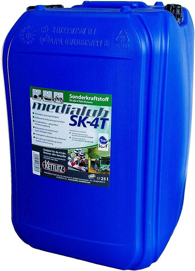 25 Liter Kettlitz Medialub Sk 4t Alkylatbenzin Für 4 Takt Für U A Rasenmäher Usw Kwf Geprüft Baumarkt
