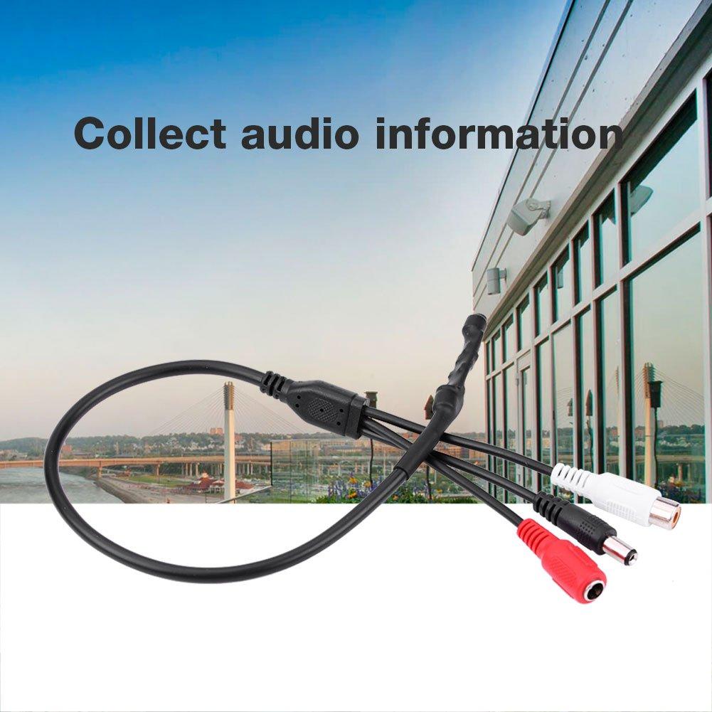 Sistema de Grabaci/ón Sonido Zerone Mini micr/ófono para C/ámara de Seguridad CCTV