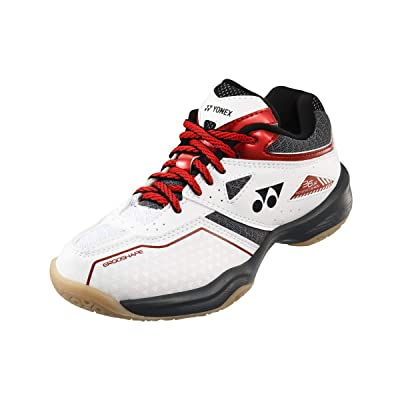 YONEX Power Cushion 36 Junior Indoor Shoe (White/Red) (2): Sports & Outdoors