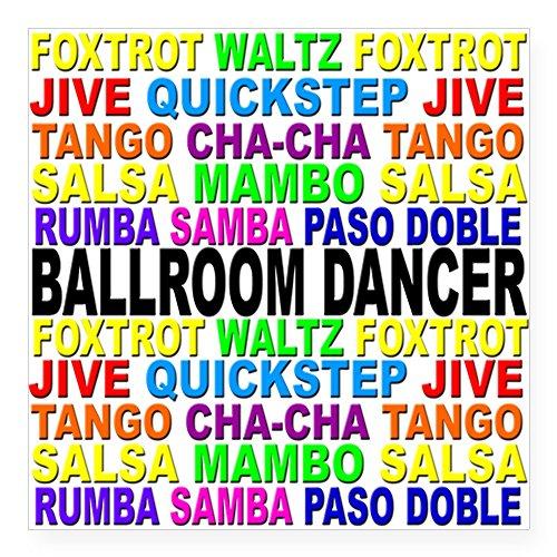 CafePress Ballroom Words Square Sticker 3