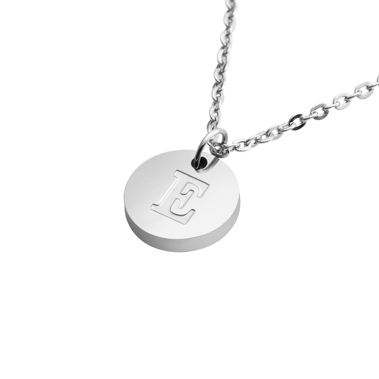Initial Necklace Letter Personalized Jewelry 26 Alphabets Stainless Steel Pendant Birthday Gift