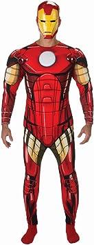 Amakando Traje Hombre superhéroe Disfraz Iron Man M/L 48/54 ...