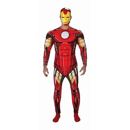 Amakando Traje Hombre superhéroe Disfraz Iron Man XL 56/58 ...
