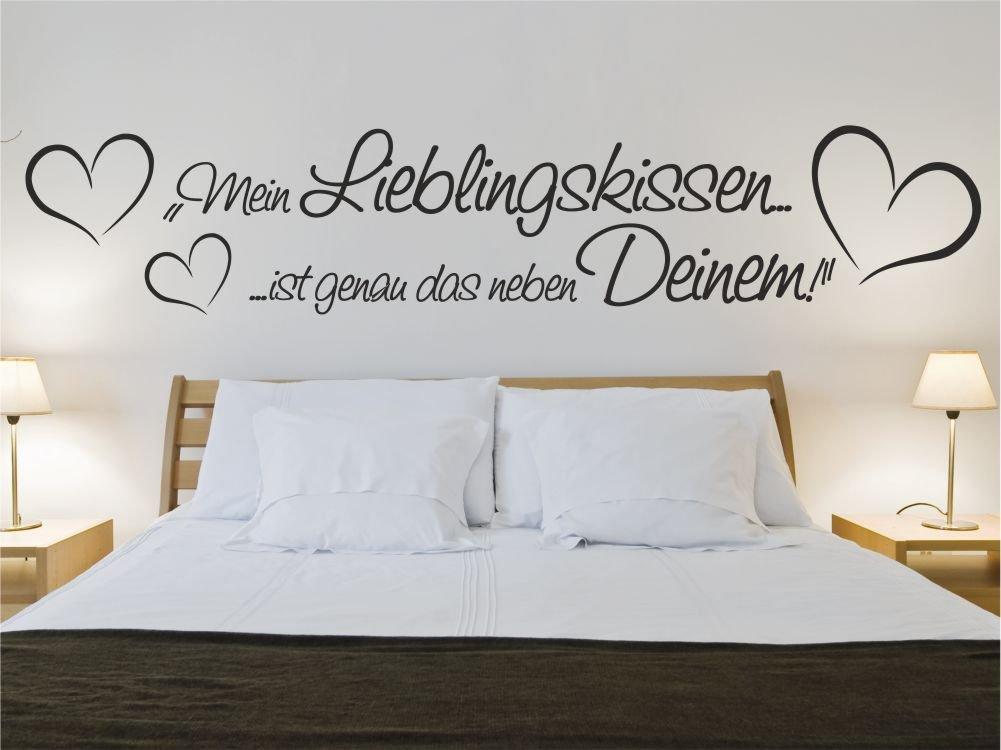 Wandtattoo Mein Lieblingskissen ist genau neben Deinem Sprüche Sprüche Sprüche Schlafzimmer M442 creme 200cm x 40cm B01E2EEIPW Wandtattoos & Wandbilder f4ca69