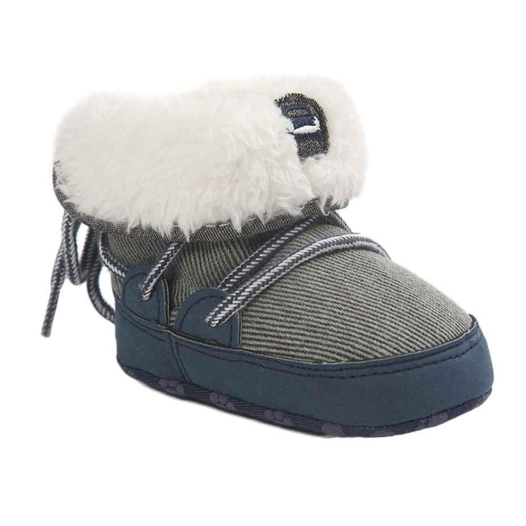Sunfei Baby Soft Sole Snow Boots Soft Crib Shoes Toddler Boots with Bowknot