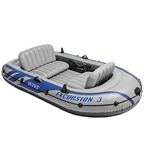 Intex Excursion 3 - Barco Hinchable, Color Gris: Intex ...