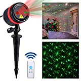 Cheap Lightess Laser Christmas Lights Projector Outdoor Laser Lights Red and Green Laser Light Galaxy Show with RF Remote for Holiday Party Garden Decoration, 8 in 1