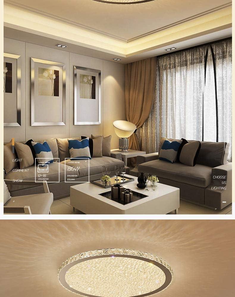"""GJJSZ LED Round Crystal Celling Light,3000K -6000K K9 Crystal Perfekt für Wohnzimmer,Schlafzimmer,Esszimmer Moderne LED-Deckenleuchte für 16""""weißes Licht Warm"""