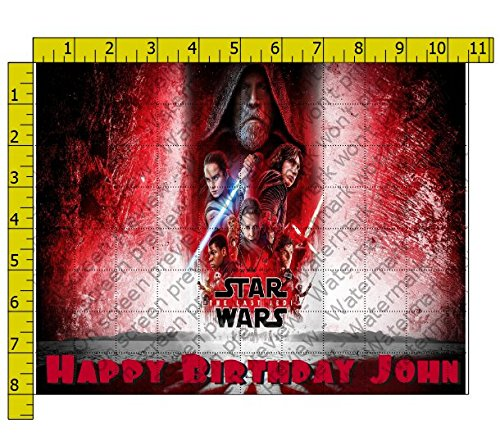 Star Wars Last Jedi Edible Frosting Image 1/4 sheet Cake Topper