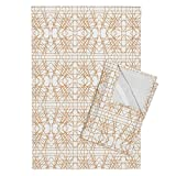 Roostery Abstract Tea Towels Orange Mirror Abstract by Modfox Set of 2 Linen Cotton Tea Towels