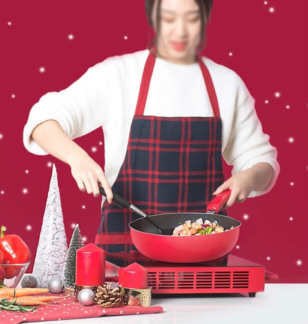 WYQSZ Wok - Non-stick cooker non-stick wok flat bottom non-stick wok kitchen cooking multi-function wok -fry pan 2365 (Capacity : B) by WYQSZ (Image #5)