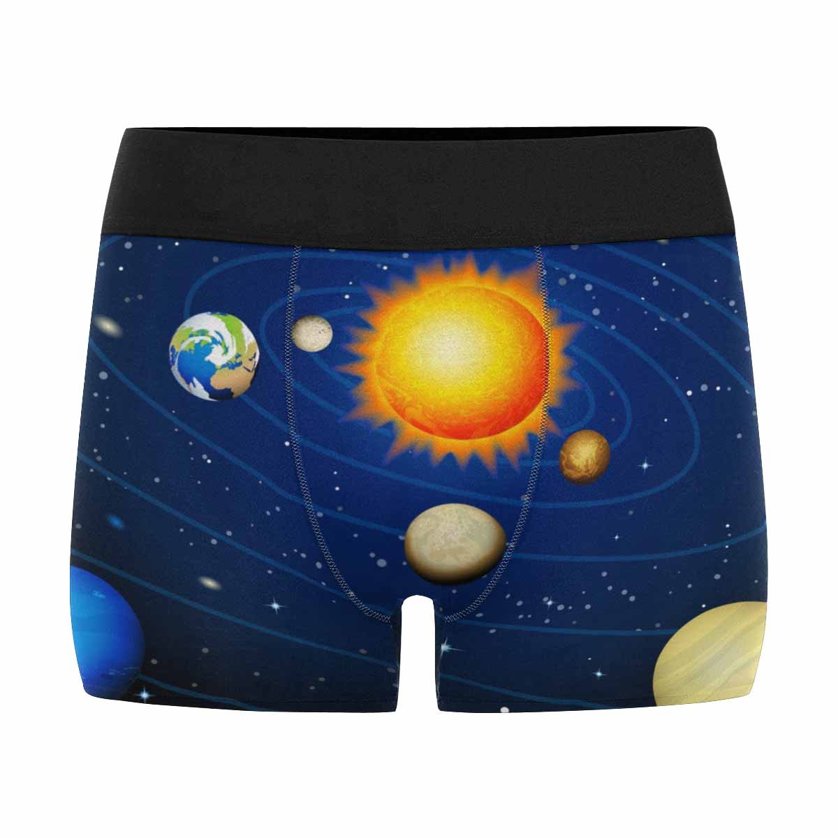 INTERESTPRINT Custom Mens All-Over Print Boxer Briefs Solar System XS-3XL