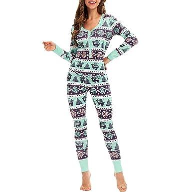 Pijama Abotonado de Dos Piezas con Mangas largas de Navidad Bata Mujer Invierno Albornoz con Capucha Bata de baño para Mujer Franela riou: Amazon.es: Ropa y ...