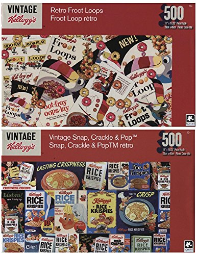 age 500 Piece Puzzle Collection - Rice Krispies and Froot Loops(2 Pack) ()
