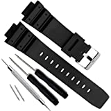OliBoPo Natural Poly Urethane Replacement Watch Band Strap for Casio Mens G-Shock DW-5900 DW-6100 DW-6695 DW-6900 G-6900…