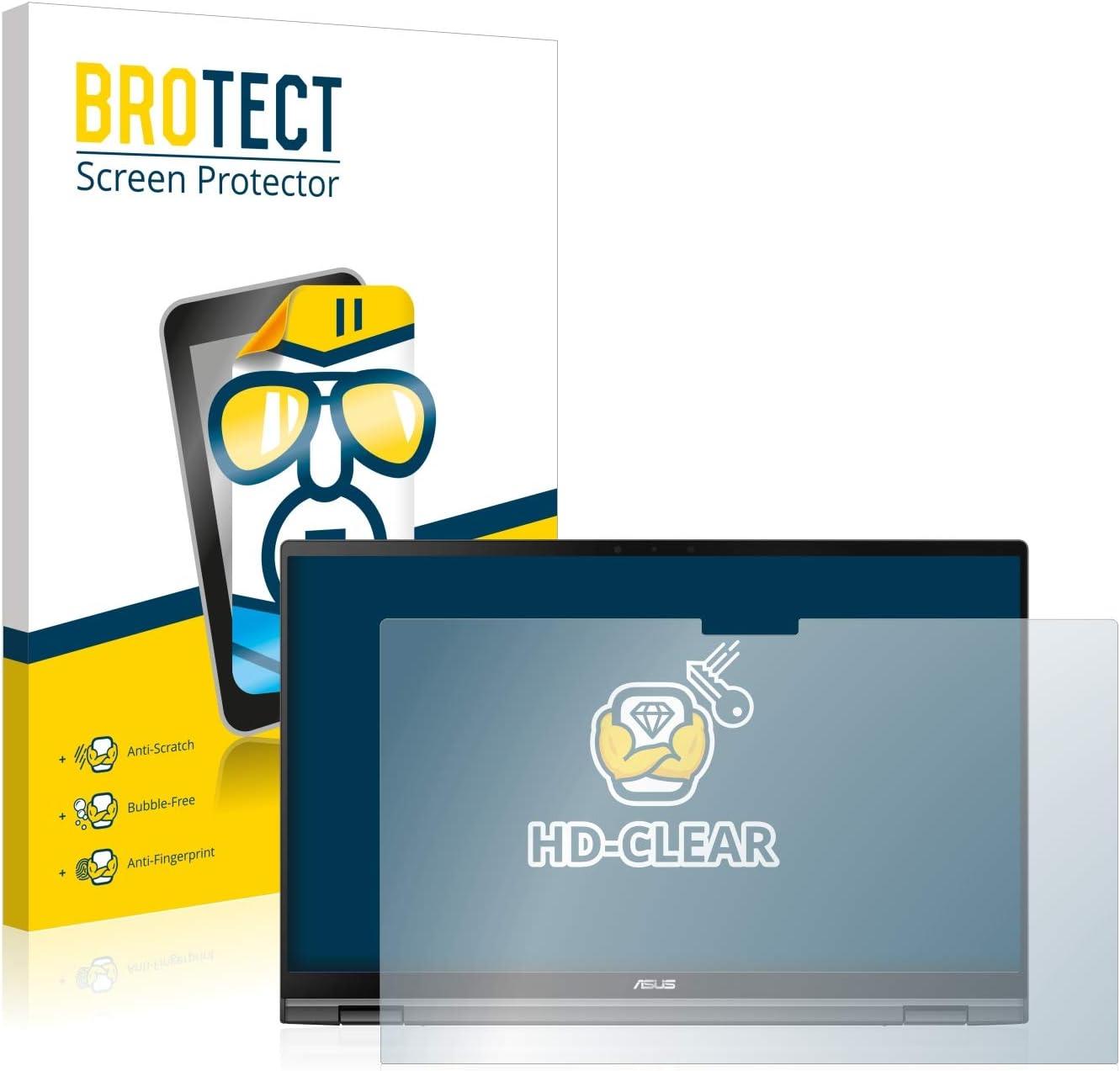 BROTECT Schutzfolie kompatibel mit Asus Zenbook Flip 14 UX463FL klare Displayschutz-Folie