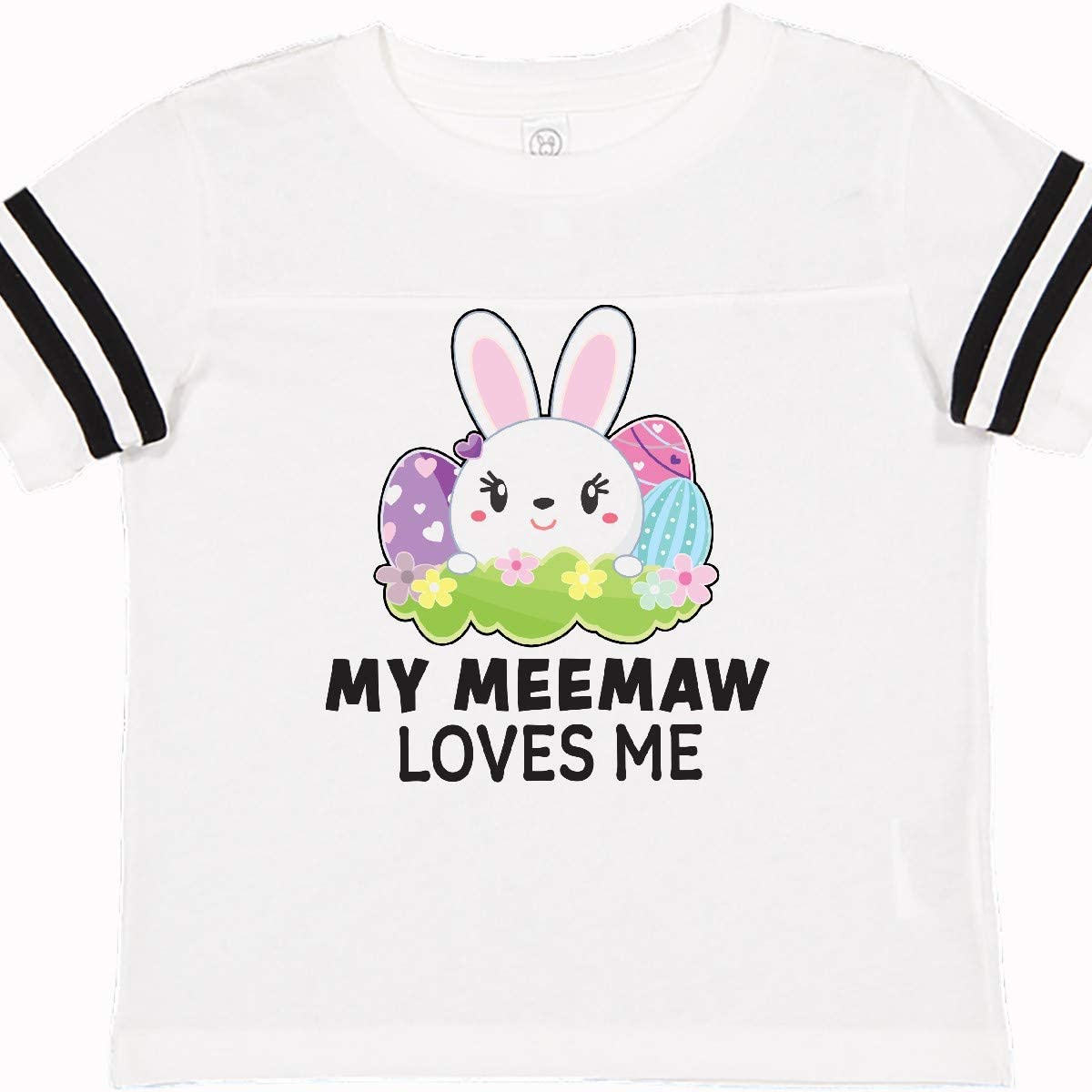 inktastic My Meemaw Loves Me with Bunny and Easter Eggs Toddler T-Shirt