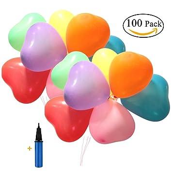 Lezed Herzförmig Ballon Party Dekorationen Geburtstag Ballons Hochzeit  Ballons Deko Zubeh Valentinstag Weihnachten Dekorationen Hochzeit Zimmer