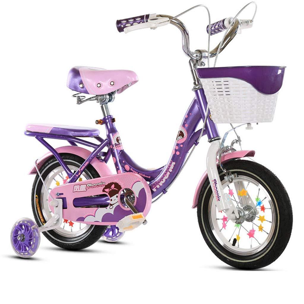 【爆売り!】 フリースタイルボーイズガールズキッズキッズ子供自転車自転車2色、12、14、16、18 スタビライザー付き、14 14in Purple、16 14in B07PRSX5XD, カミムラ:02bb5727 --- senas.4x4.lt