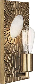 product image for Robert Abbey 418 Goliath - One Light Wall Sconce, Antiqued Modern Brass/White Rock Crystal Finish