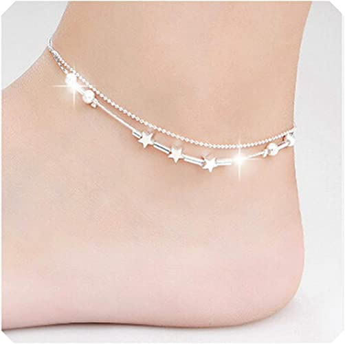 Fashion Jewelry Anklet Silver Chain Ankle Bracelet Barefoot Sandal Beach Foot