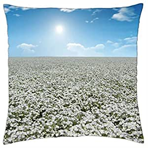 Sea Flowers - Throw Pillow Cover Case (18