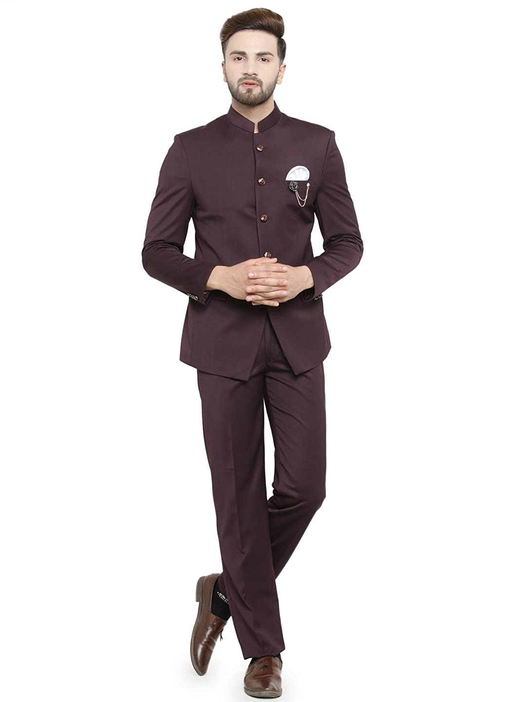 Royal Wine Bandh Gala Men S Designer Combo Suit For Men S Luxurazi Best Price With Best Deal In Your City