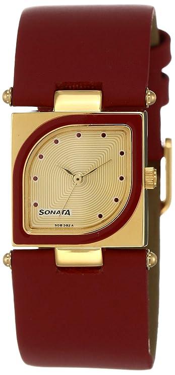 Sonata Yuva Analog Gold Dial Women's Watch NM8919YL04