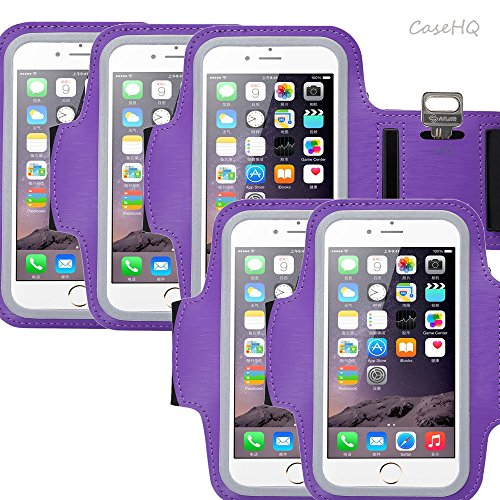 Universal Sports Armband for Apple iPhone 7/7 Plus iPhone 6/6s Plus Samsung Galaxy S7/S6/S5 Sweatproof Running ArmBelt With Small Holder & Pouch for Keys Card 4.5 inch- 5.7 inch Screen ()