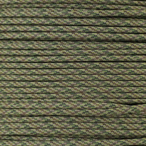 PARACORD PLANET 550 Cord Type III 7 Strand Paracord 1000 Foot Spool - Dark Digital Camo