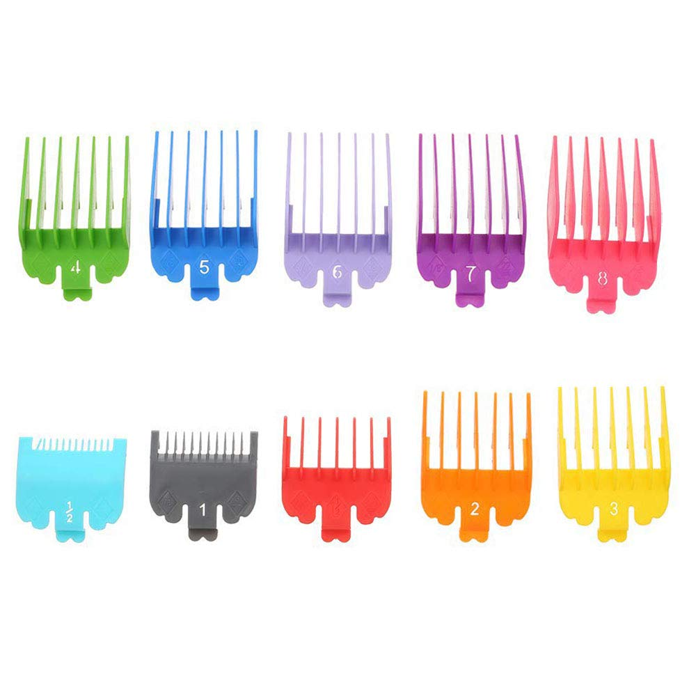 Amazon Com 10 Pcs Professional Hair Clipper Combs Guides Replacement Guards Set 3171 500 1 2 To 1 Fits Most Size Wahl Clippers Trimmers Radom Colors Beauty