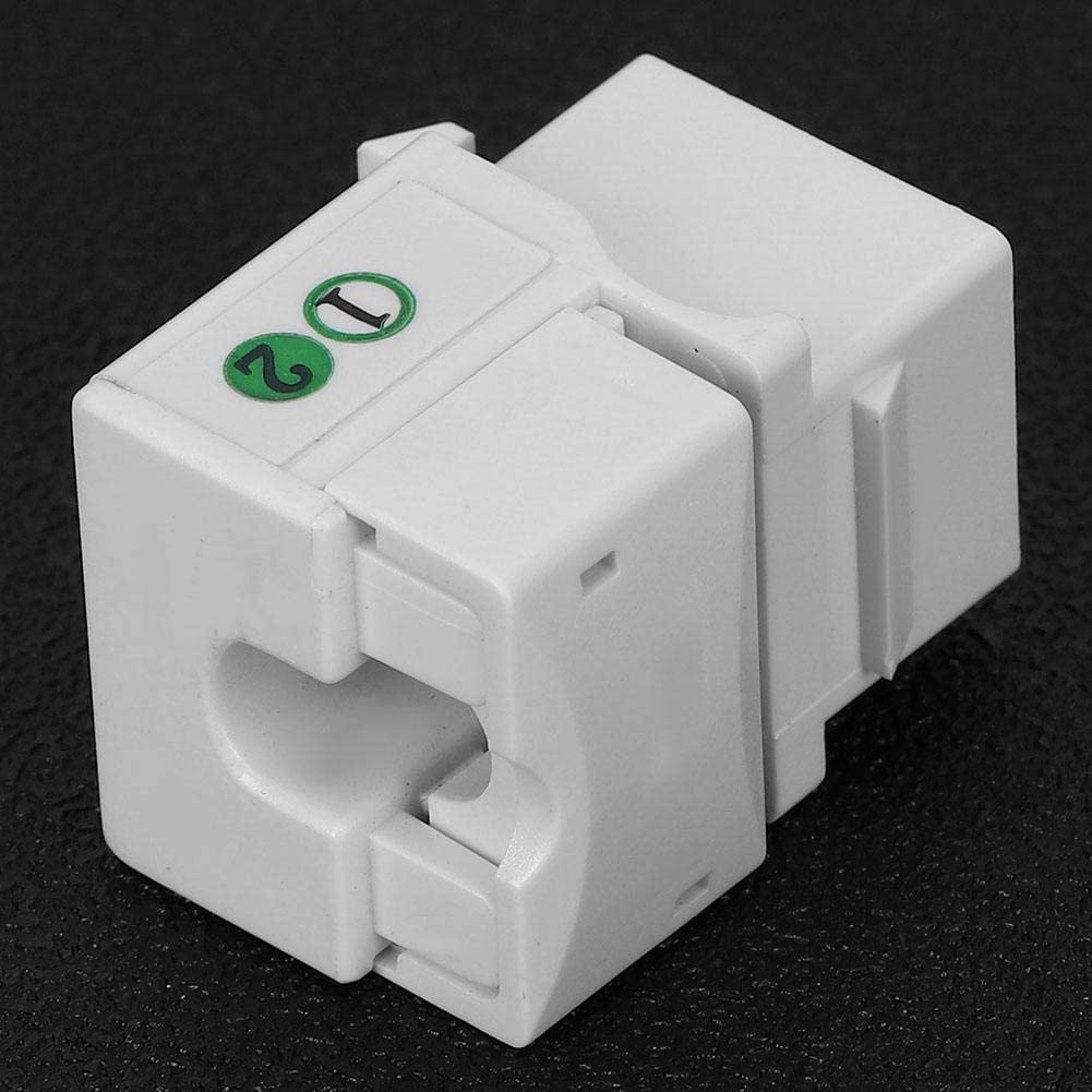 Keystone Jack f/ür Network Engineering Integrated Wiring 5PCs Telefon Sprachmodul Netzwerkverkabelung Zubeh/ör Single Port RJ11 Cat 3 mit Staubschutz mit UL 94-V0 Brandschutzklasse