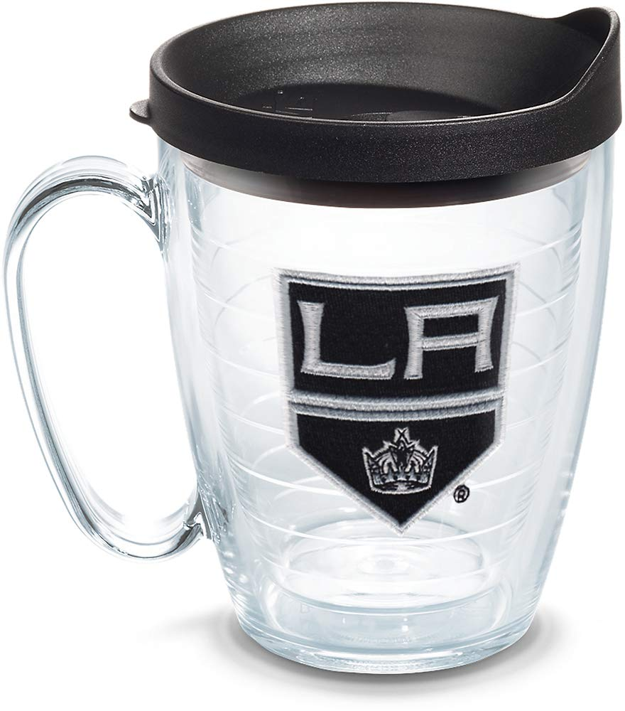 Tervis 1059944 NHL Los Angeles Kings Primary Logo Tumbler with Emblem and Black Lid 16oz, Clear