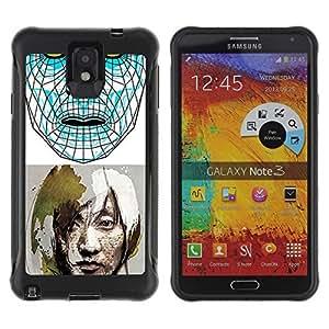 Hybrid Anti-Shock Defend Case for Samsung Galaxy Note 3 / Sci-Fi Future Art