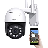 $49 » Security Camera Outdoor Conico 360° View 1080P WiFi Home Surveillance Camera with…
