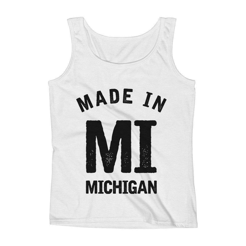 Mad Over Shirts Made in MI Michigan Unisex Premium Tank Top
