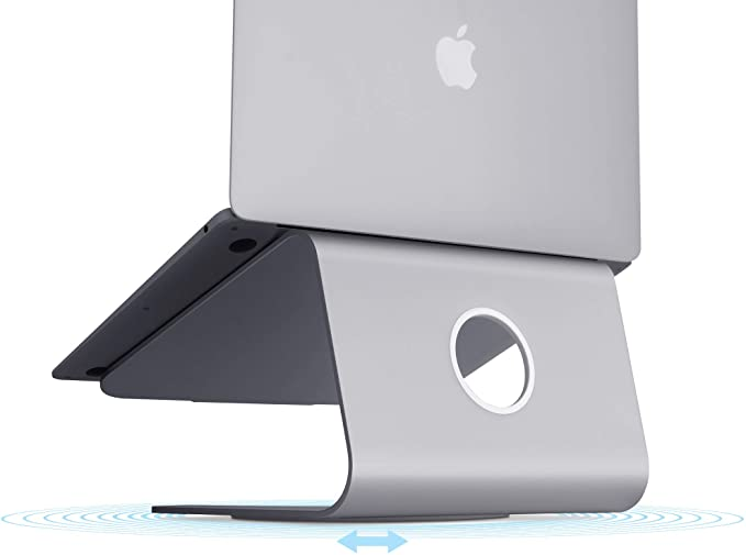 Space Gray Patented Rain Design mStand360 Laptop Stand with Swivel Base